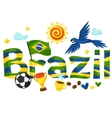 Brazil design with objects on white background vector image vector image