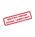 British Indian Ocean Territory Rubber Stamp vector image vector image