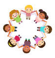 children holding hands in a circle vector image vector image