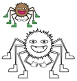 Color by example spider vector image