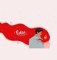 couple romantic red vector image vector image
