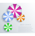 creative umbrella background Eps10 vector image vector image