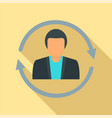 customer retention icon flat style vector image vector image