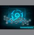 dark blue internet background vector image vector image