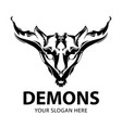 demons logo vector image vector image