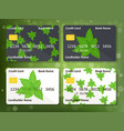 design for credit card with mint vector image vector image