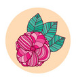 doodle flower t-shirt print design vector image vector image