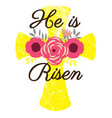 easter cross vector image vector image