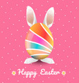 easter with polka dot background vector image vector image