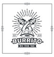 emblem with burrito vector image vector image