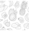exotic fruits seamless pattern tropical plants vector image vector image