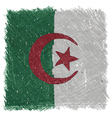 Flag of Algeria handmade square shape vector image
