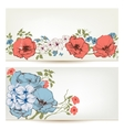 Floral banners Flowers and leaves header set vector image vector image