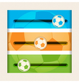 football infographic sliders vector image vector image