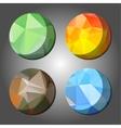 four season abstract polygon rounds vector image