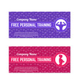 free personal training gift voucher for gym vector image