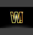 gold black alphabet letter vm v m logo vector image vector image