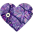 Gorgeous silhouettes of heart made of doodle vector image vector image