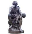 Hamlet Statue vector image vector image