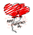 Hand drawn hearts balloon for valentines day vector image vector image