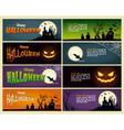 happy halloween set banner vector image vector image
