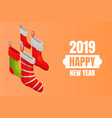 happy new year concept background isometric style vector image
