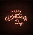 happy valentines day neon wire lettering text vector image