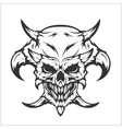 Horned skull - isolated on white vector image vector image