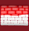 indonesia flag painted on brickwall vector image vector image