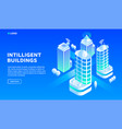 intelligent building concept background isometric vector image