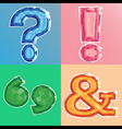 jewel punctuation marks vector image