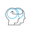 knowledge sharing thin line stroke icon vector image vector image
