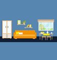 living room interior with furniture and window vector image vector image