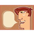 Man face speaking vector image vector image