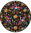 Mexican embroidery round pattern vector image vector image