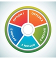Multicolored presentation color circles template vector image vector image