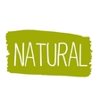 Natural hand drawn isolated label vector image vector image