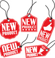 New product red tag set vector image vector image