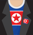 North Korea T-Shirt vector image vector image