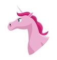 pink unicorn icon vector image vector image