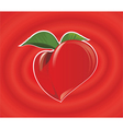red heart fruit vector image