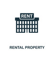 rental property icon symbol creative sign from vector image vector image