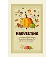 Rich Harvest flat banners set vector image