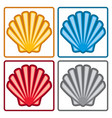 sea shell icons vector image