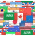Seamless background of flags vector image