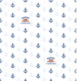 seamless pattern with anchors and sea emblem vector image vector image