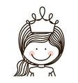 silhouette half body girl with crown vector image