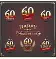 Sixty years anniversary signs collection vector image