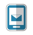 smartphone with mail icon vector image
