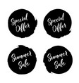 special offer in grunge style special offer vector image vector image